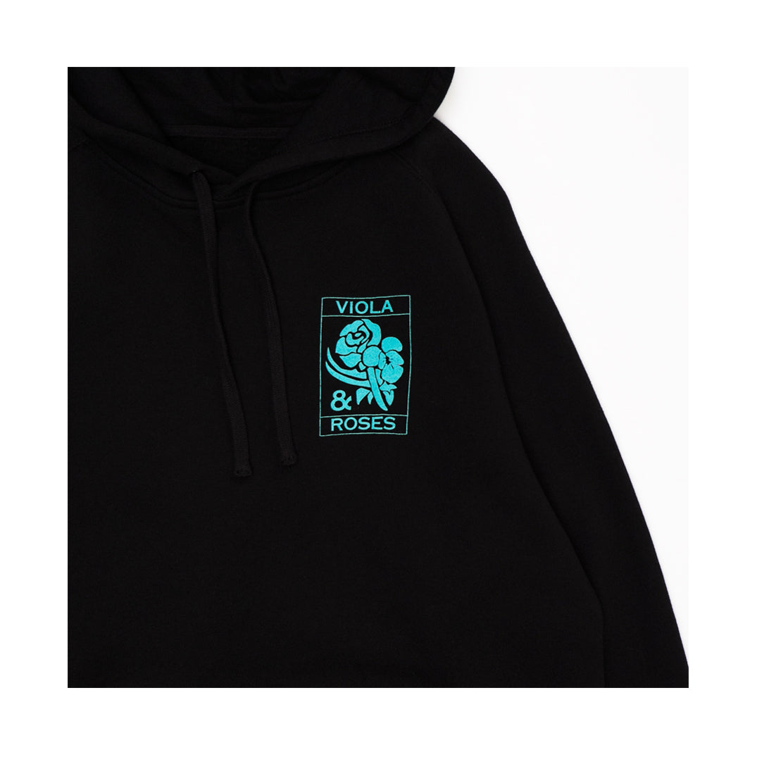 VIOLA EMBROIDERED HOODIE BLACK