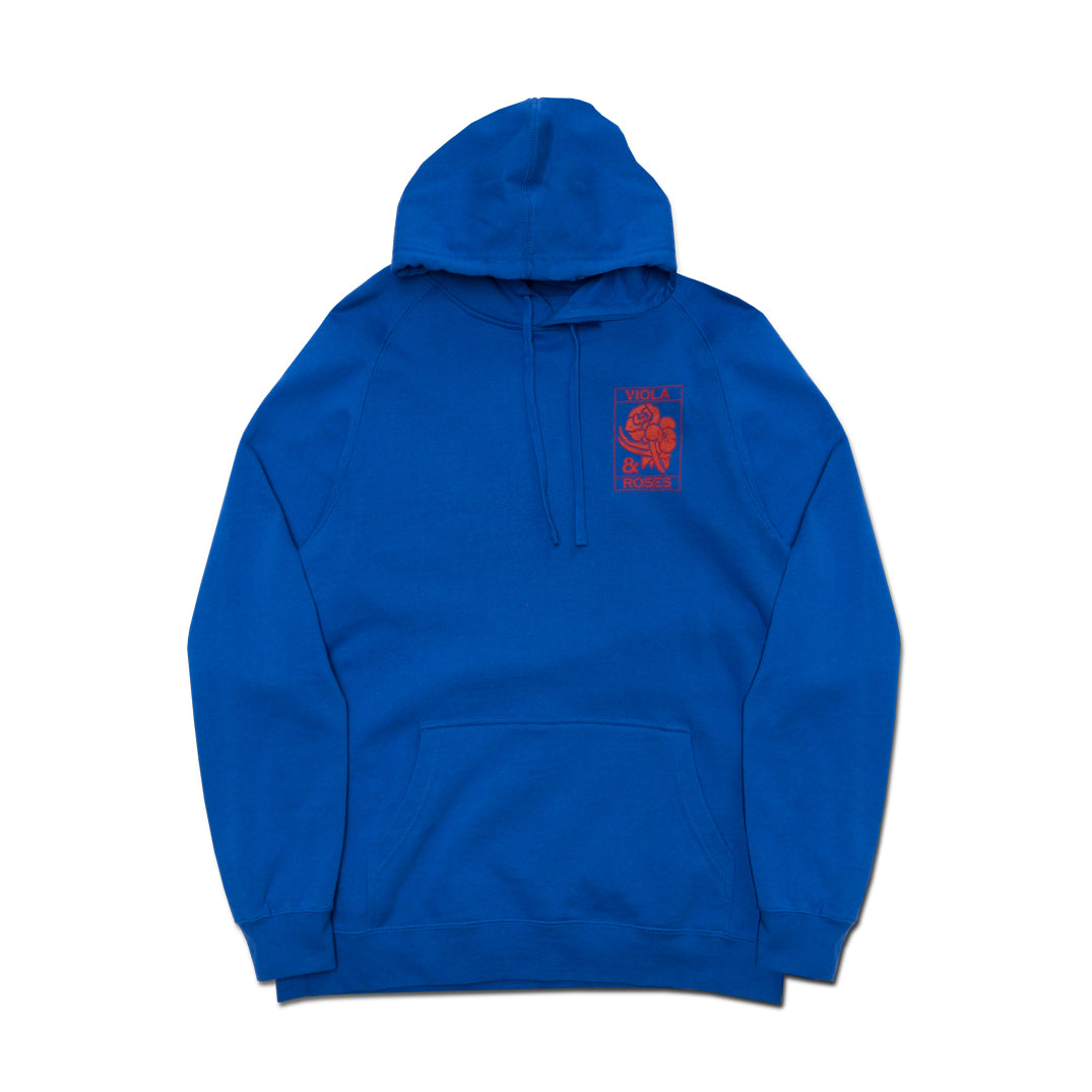 VIOLA EMBROIDERED HOODIE ROYAL