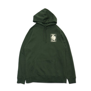VIOLA EMBROIDERED HOODIE GREEN