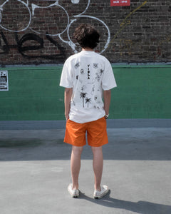 HOLLYWOOD HAND DRAWING S/S T-shirts Orange