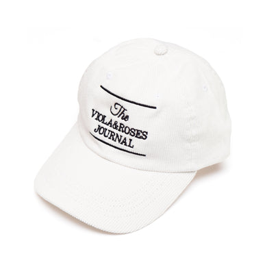 The V&R Journal Corduroy Hat White