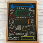 First Day Chalkboard