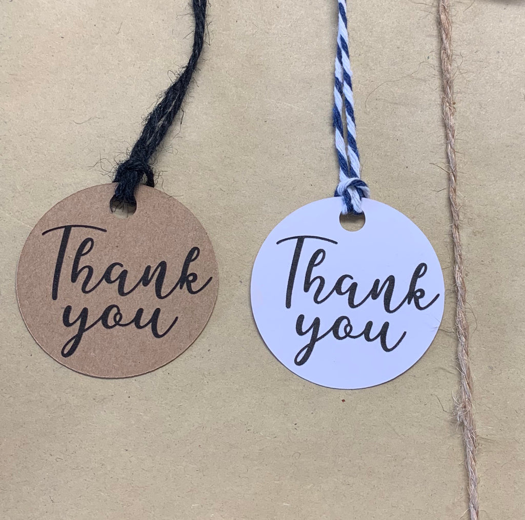 Round Thank You Tags (10pk)