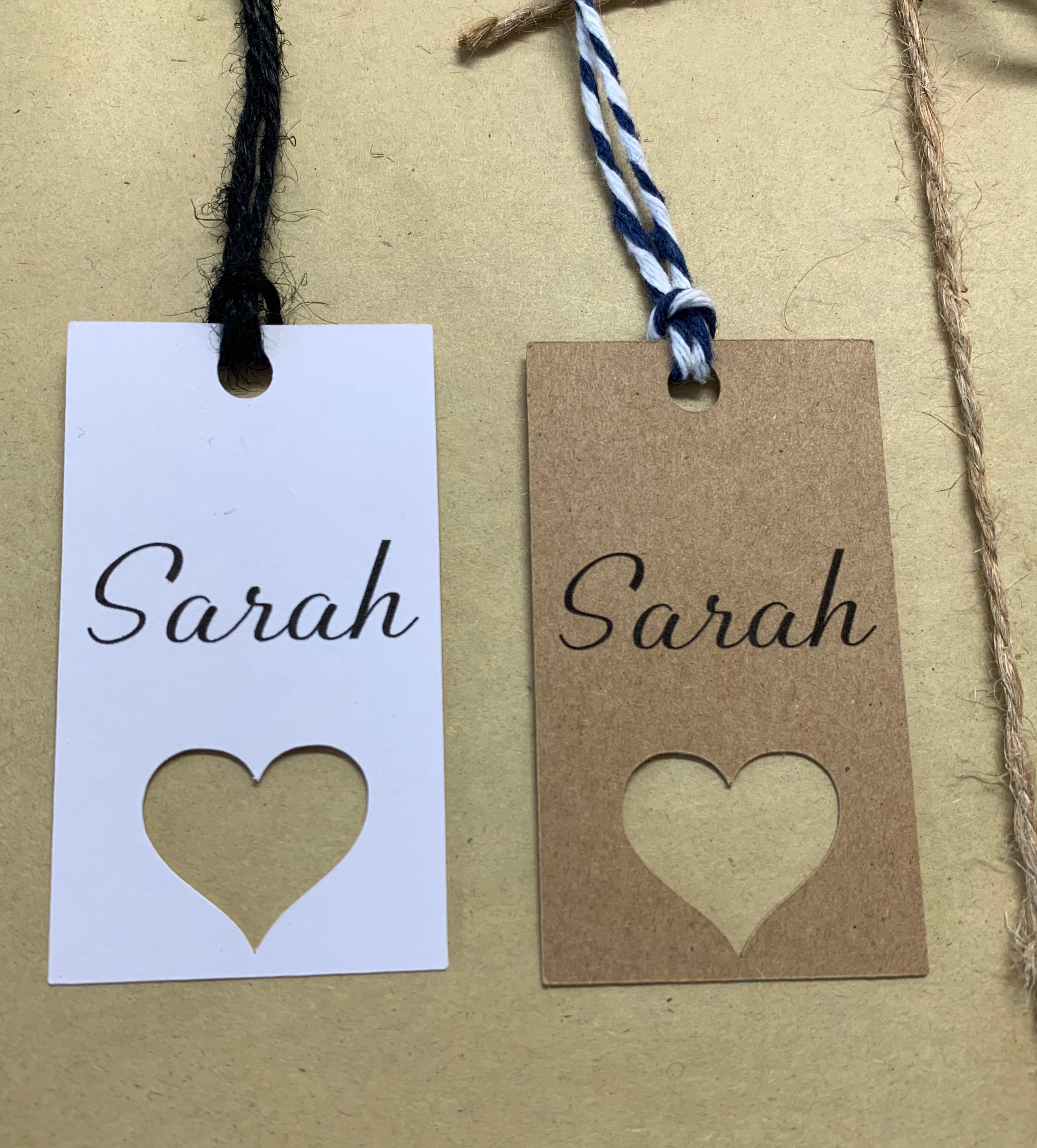 Heart Name Tags - Personalised (10pk)