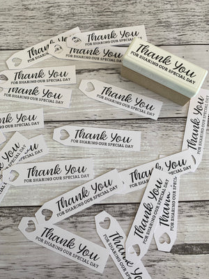 Hand Stamped Thank You Tags (10pk)