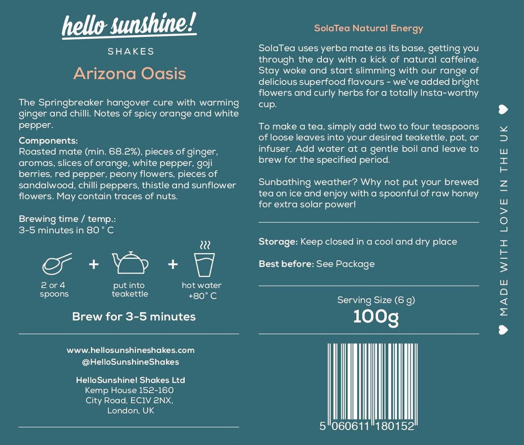 Arizona Oasis Organic Tea