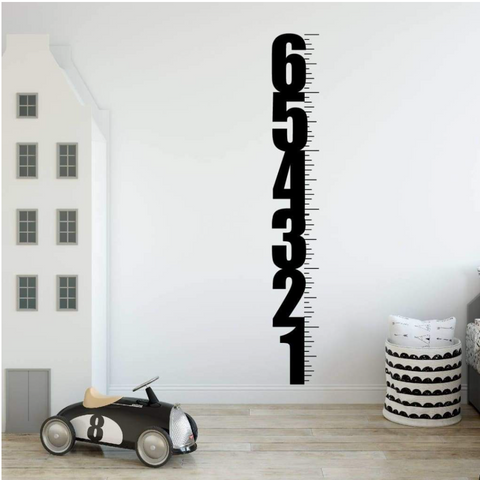 Growth Chart Wall Decal, Ruler Growth Chart DB256