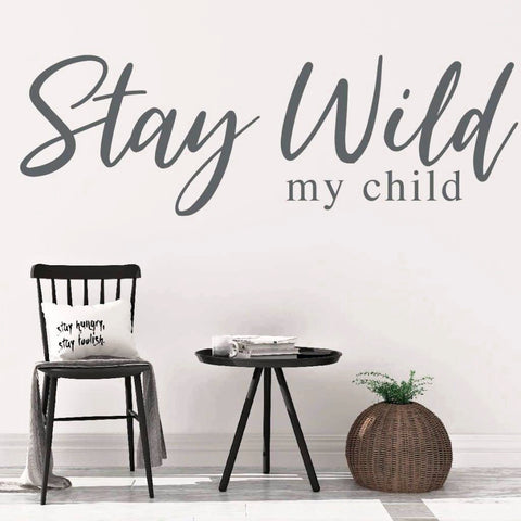 Adventure Decal, Stay Wild Wall Decal RB104