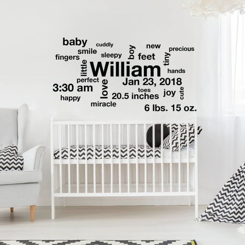 Baby Stats Wall Art Db161