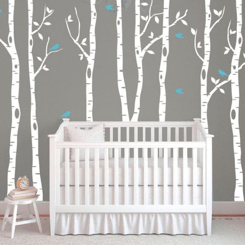 Birch Tree Decals For Walls Db320