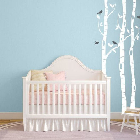 Birch Tree Wall Decals For Nursery Db353