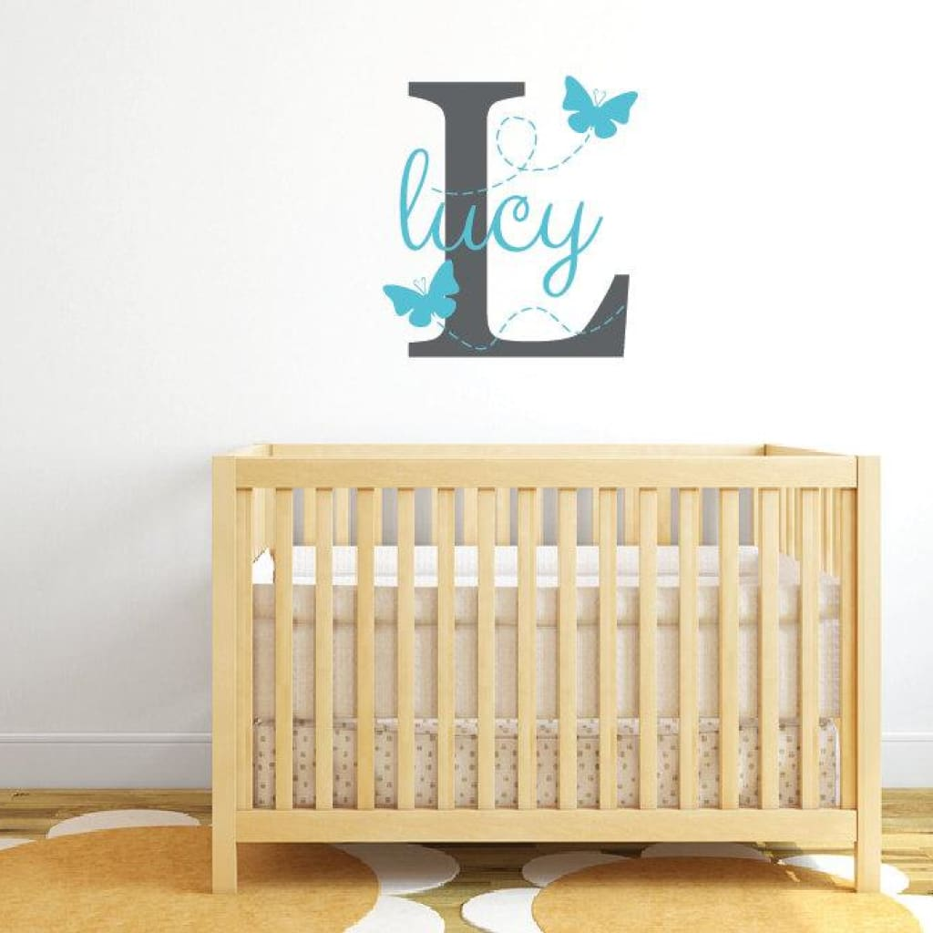 Butterfly Wall Decal, Girl Name Decal DB310 – designedbeginnings