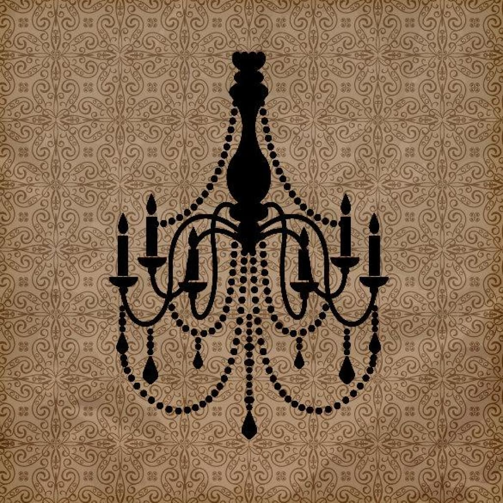 Chandelier Vinyl Wall Decal Db140