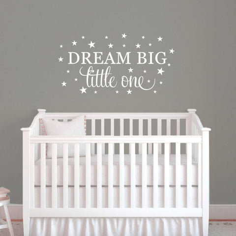 Dream Big Wall Decal Quote Db434
