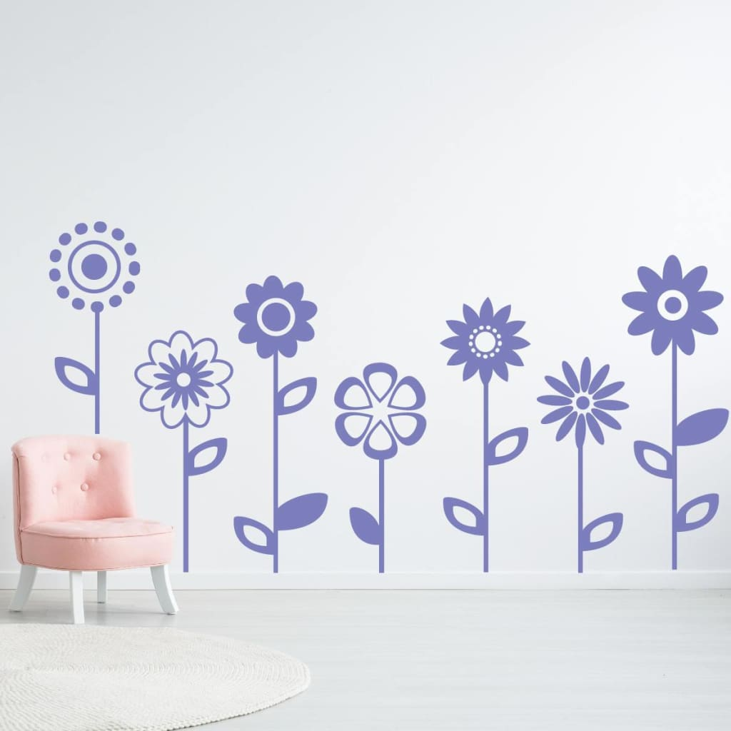 Flower Wall Decal 240