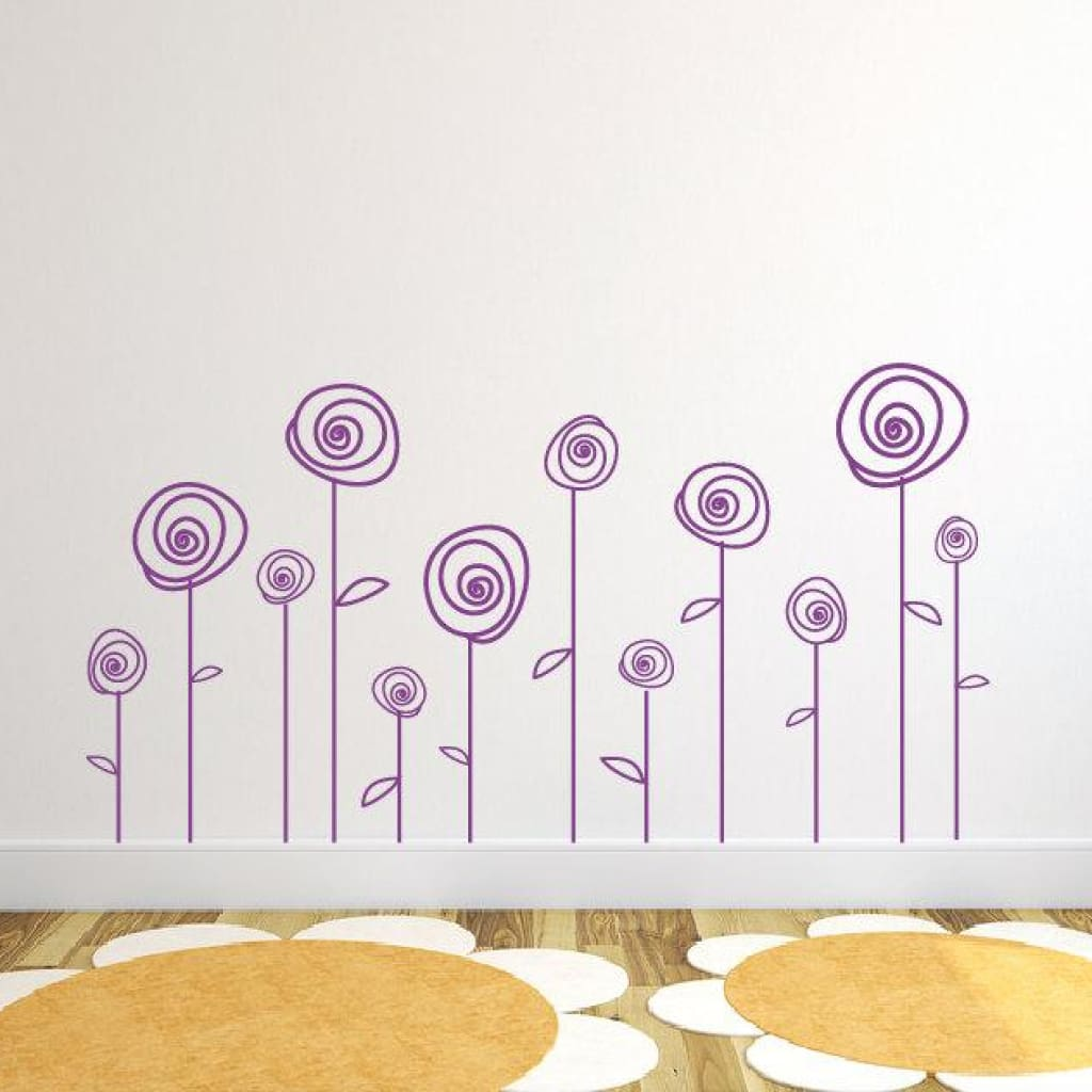 Flower Wall Decals Db321