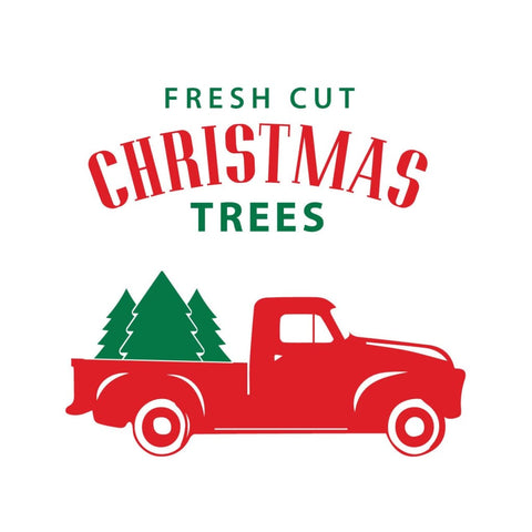 Fresh Cut Christmas Trees Diy Decal For Wood Db418