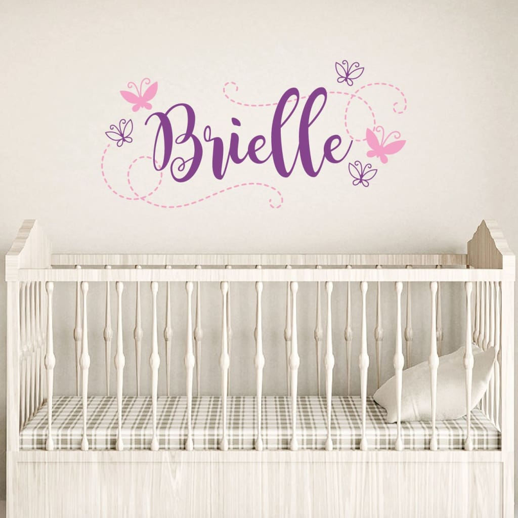 Girl Butterfly Wall Decals Db445
