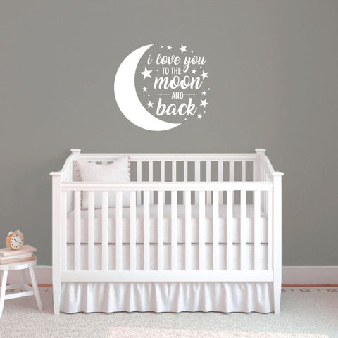 I Love You To The Moon And Back Baby Wall Decals Db431