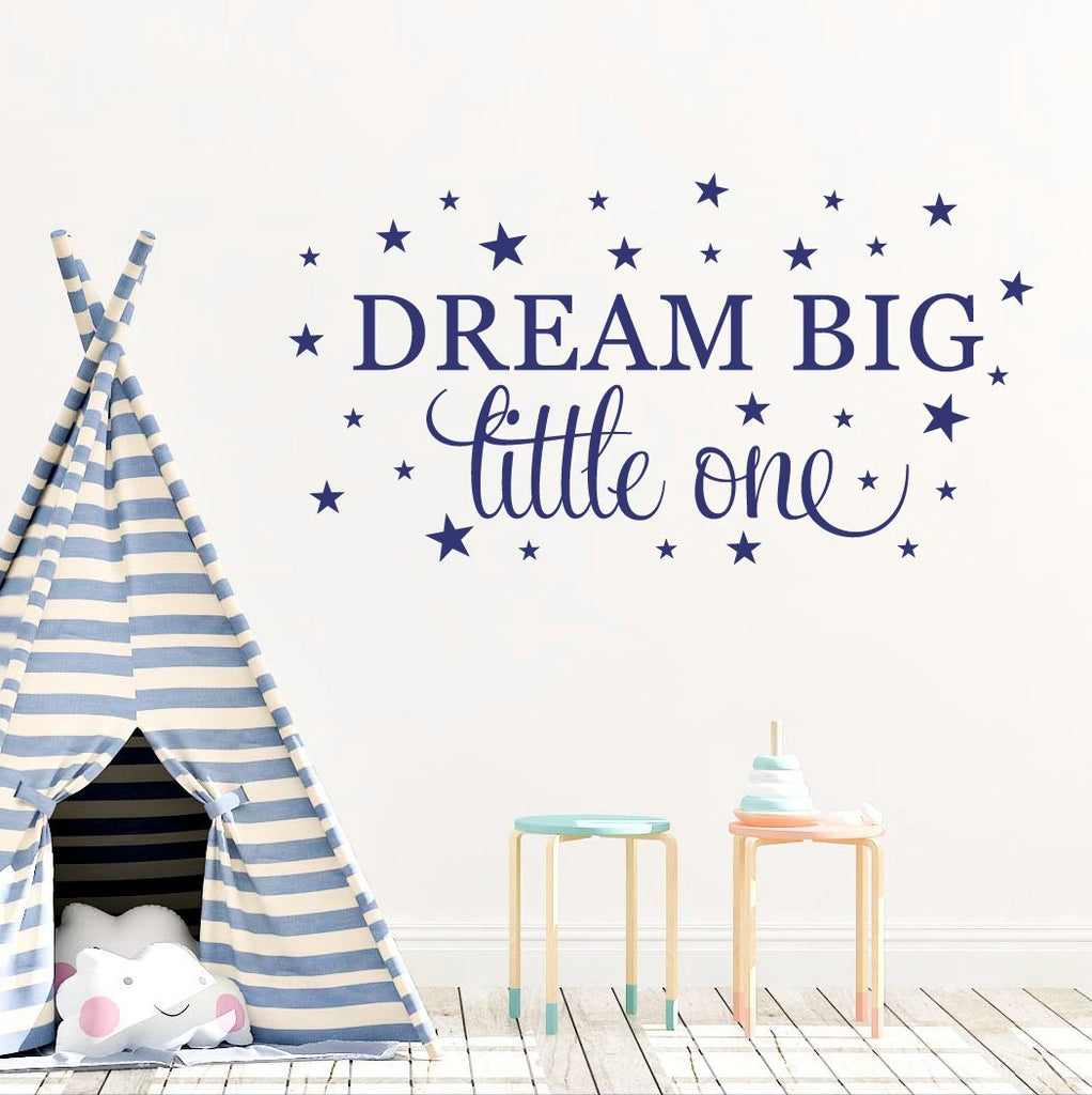 Dream Big Wall Decal Quote, Kid's Wall Decal DB434