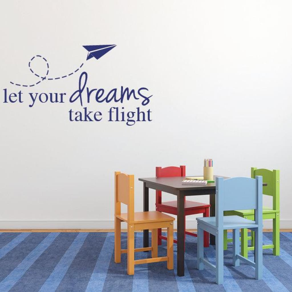 Kids Airplane Decor Wall Decal Quotes 230