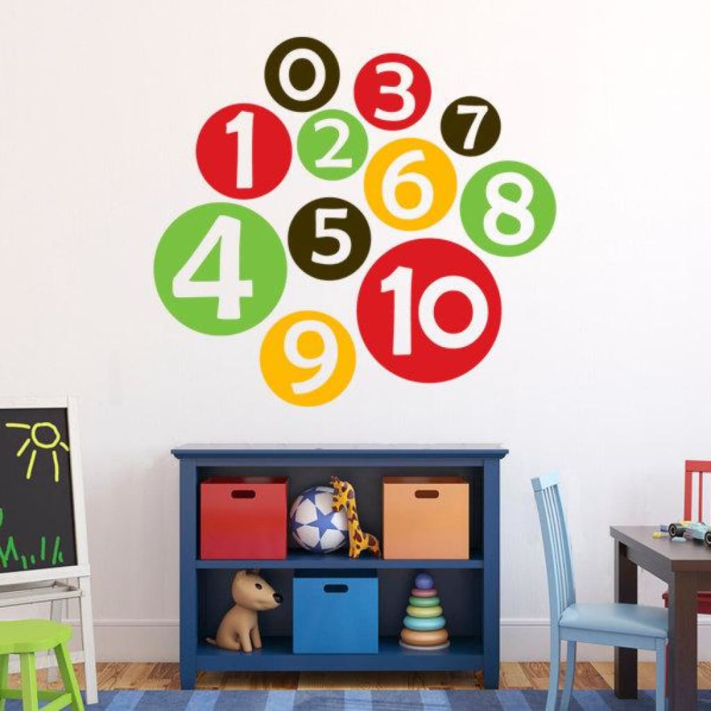 Number Wall Decals Db151