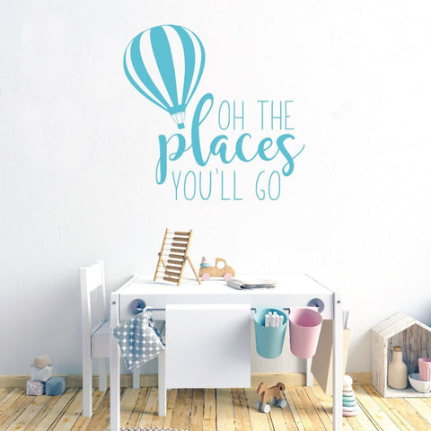 Oh The Places Youll Go Wall Art Decals Rb117