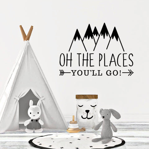 Oh The Places You'll Go Wall Decal DB451
