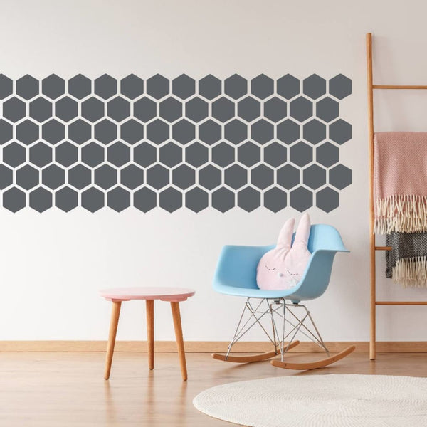 Peel And Stick Hexagon Wall Decal Sticker Db345