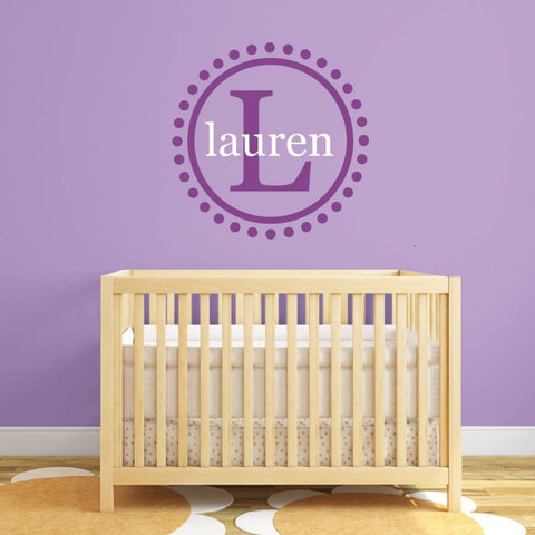 Personalized Name Wall Decal 212