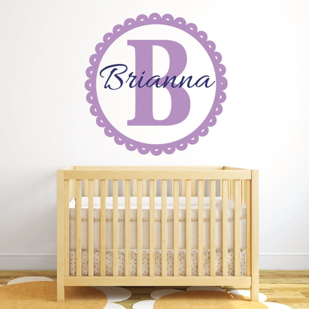 Personalized Name Wall Decals B166