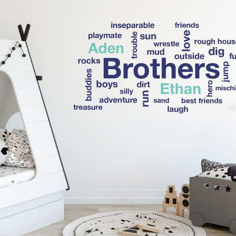 Sports decals Personalized wall decals Sports decor Nursery wall decals DB102 Football decals Boys room decor Name wall decals