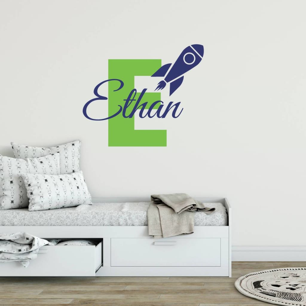 Rocket Ship Name Wall Decals 358