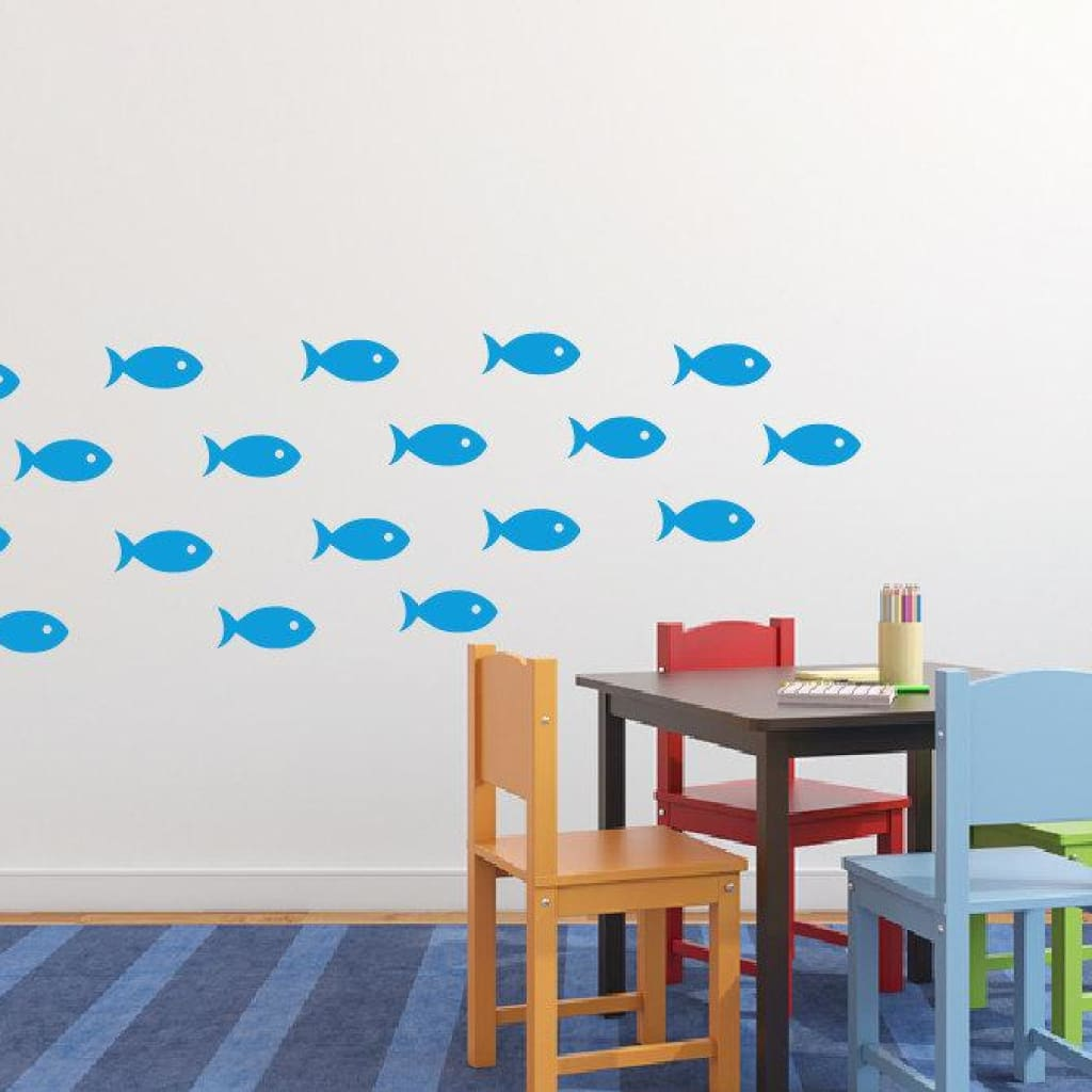 School Of Fish Wall Decal Stickers Db216