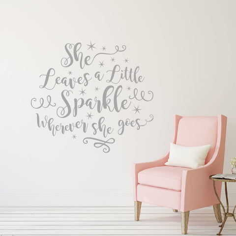 She Leaves A Little Sparkle Wherever She Goes Wall Decal Db447