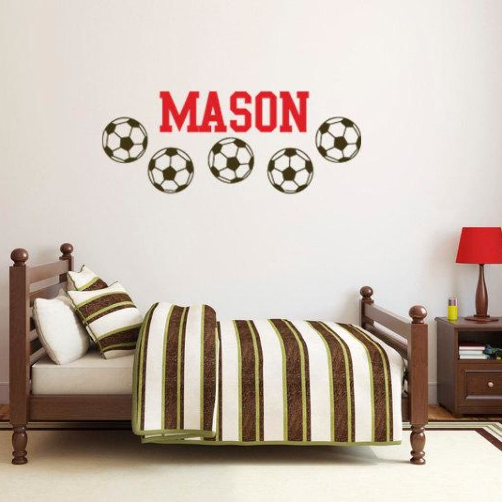 Soccer Name Wall Decals Db165