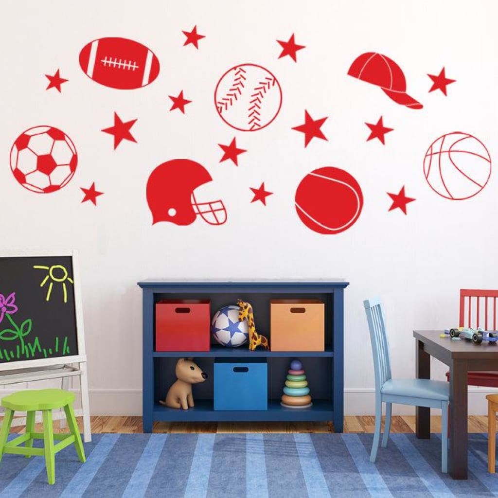 Sports Decals Kids Wall Stickers For Boys Db251