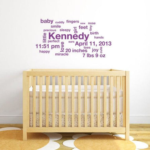 Subway Art Baby Wall Decals Db168