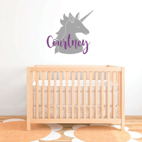 Unicorn Wall Decal Unicorn Name Sticker Rb106