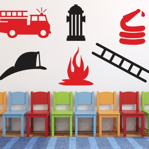 Wall Decal - Fireman Fire Truck Decal Db205