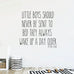 Wall Quote Decal, Boy Wall Decal RB122