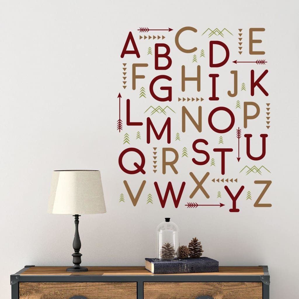 Woodland Alphabet Wall Letter Decals Db438
