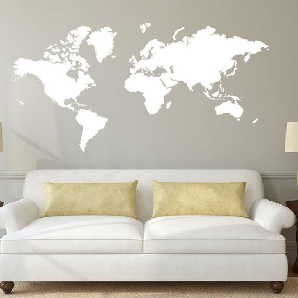 World Map Decal Sticker Db308