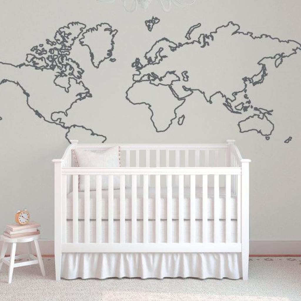 World Map Wall Decal B388