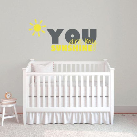 You Are My Sunshine Wall Decal Db326