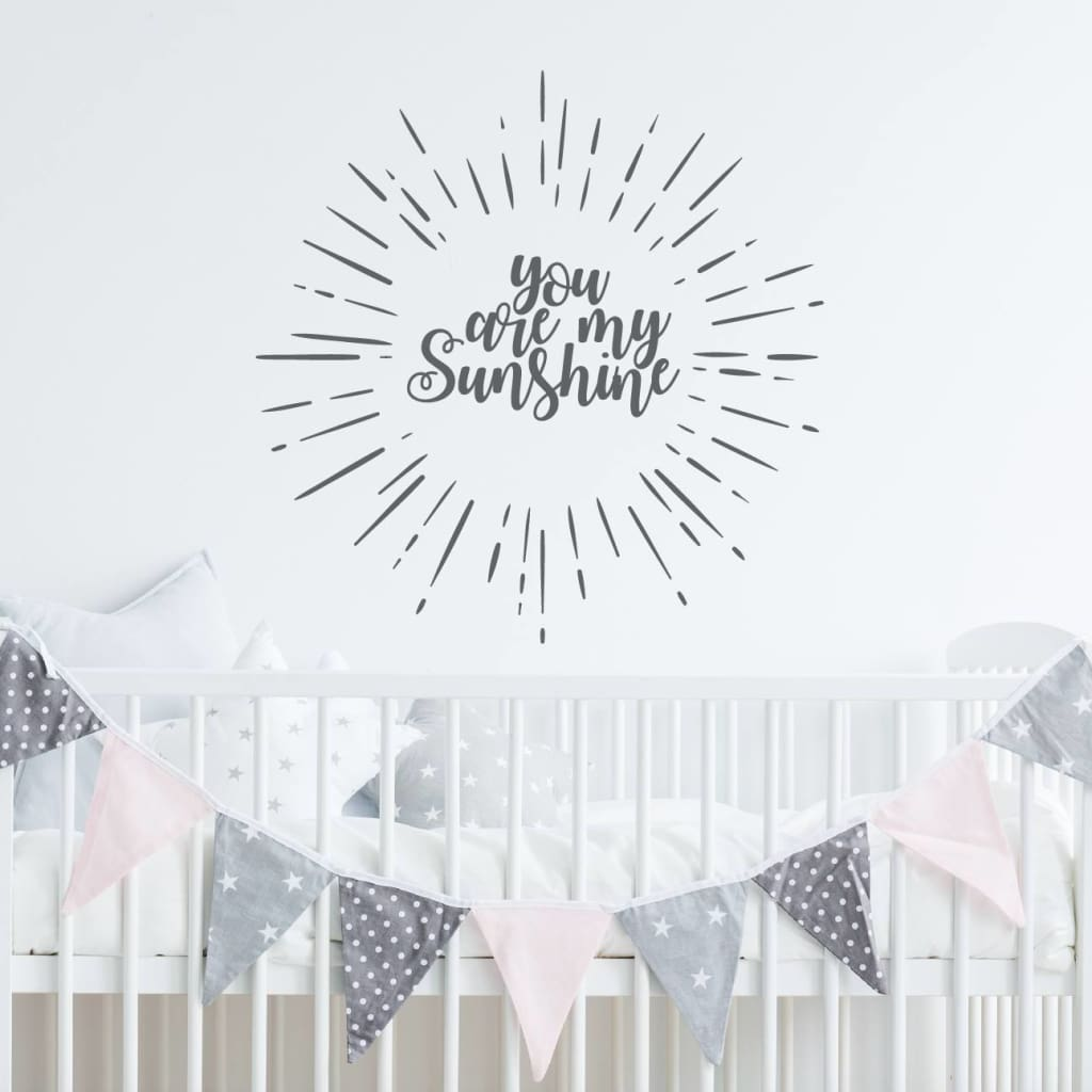 You Are My Sunshine Wall Decal Wall Quote Rb115 Designedbeginnings