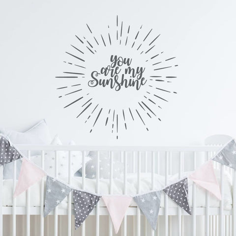 You Are My Sunshine Wall Decal Rb115