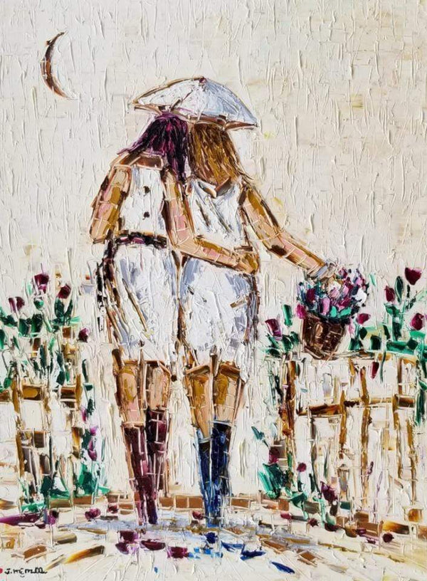 "Joachim McMillan ""FRIENDS AND SISTERS""  ▪30X40X2  ▪OILS ▪︎TEXTURED ▪︎FRAMED"