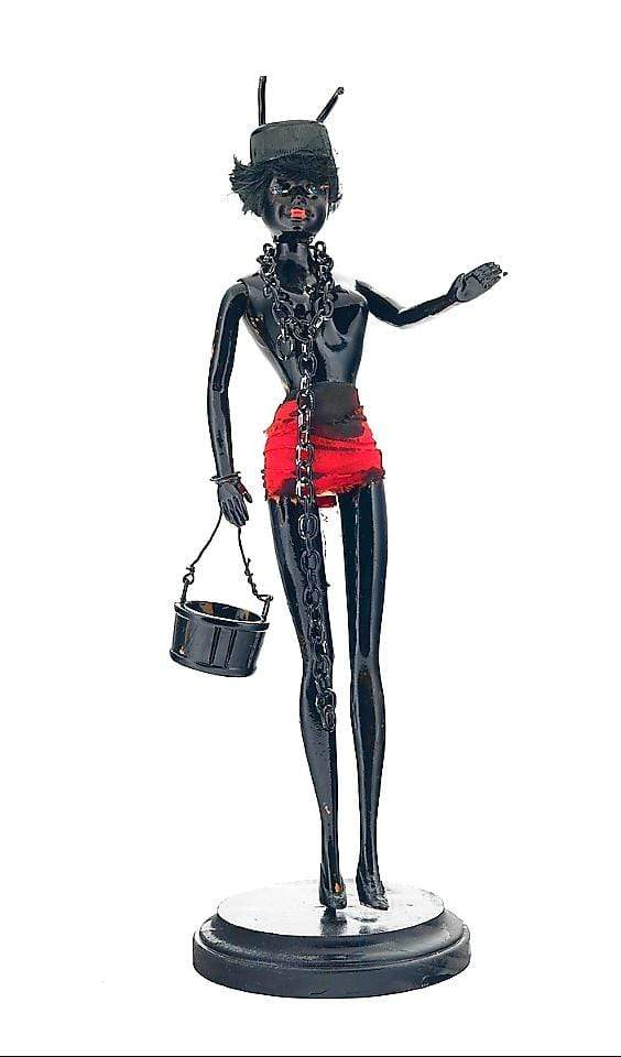 "Joachim McMillan ""SAUCY"" ▪12 inches tall, plastic doll painted black."