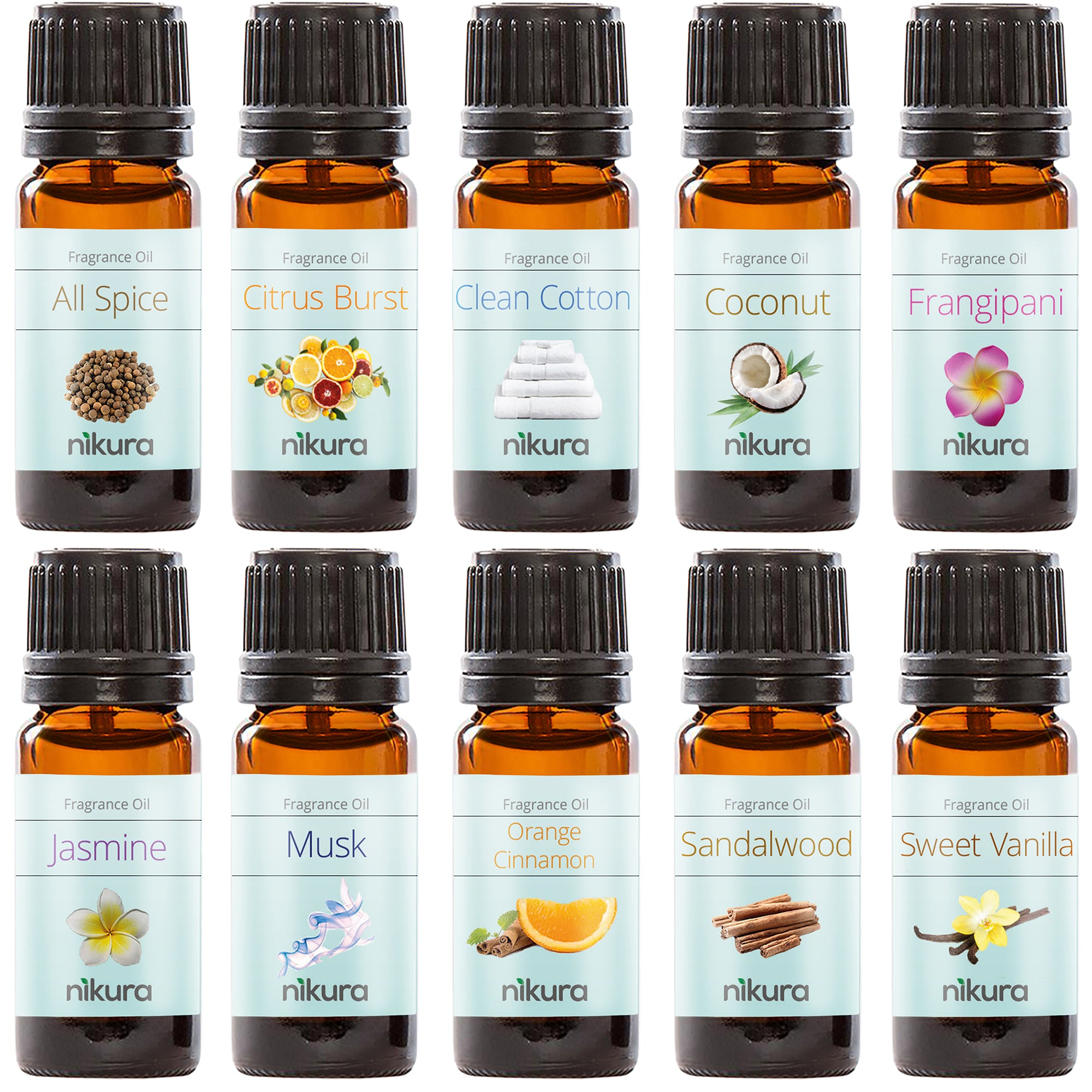WOW Favourites Gift Set - 10 x 10ml Fragrance Oils